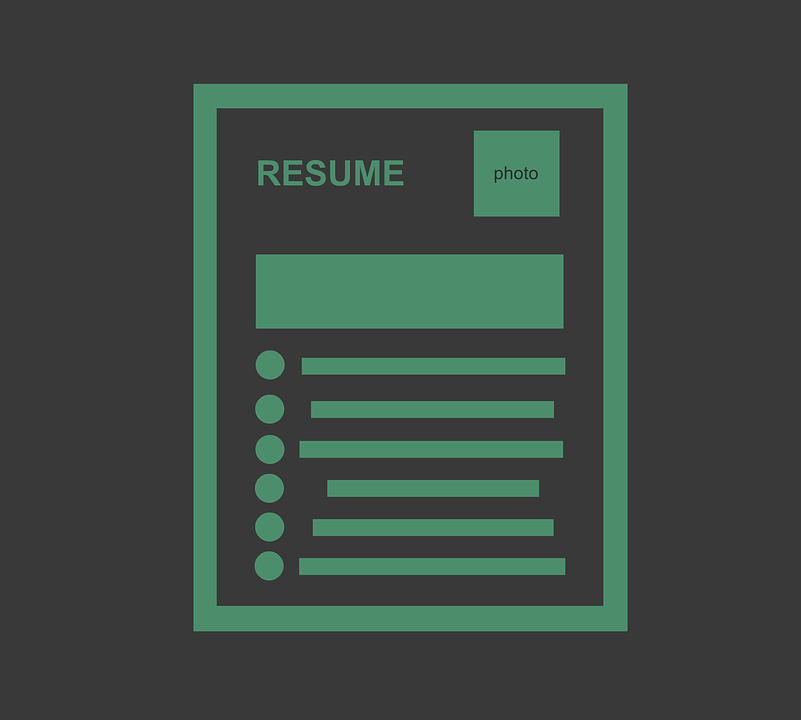 illustration of a resume
